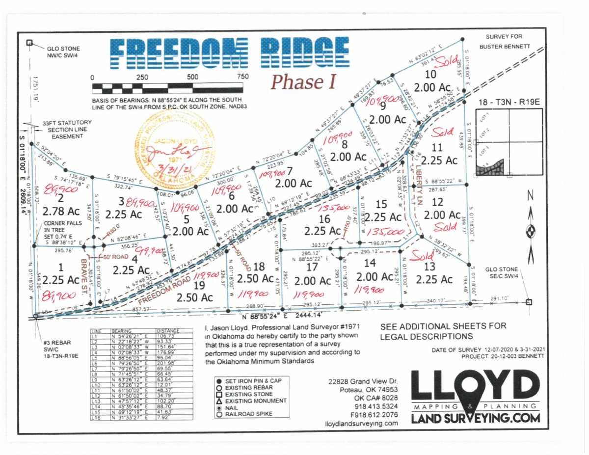 land, ranch, recreational, hunting, oklahoma, cabin | Freedom Ridge Yanush, OK 74571 1