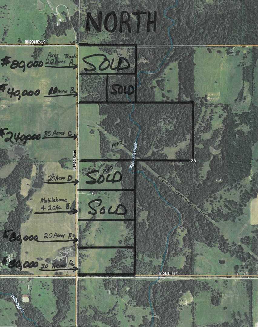 land, ranch, recreational, hunting, oklahoma, cabin   111110 N 3790 Rd - $40,000 * $80,000 * $240,000 Okemah, OK 74859 0