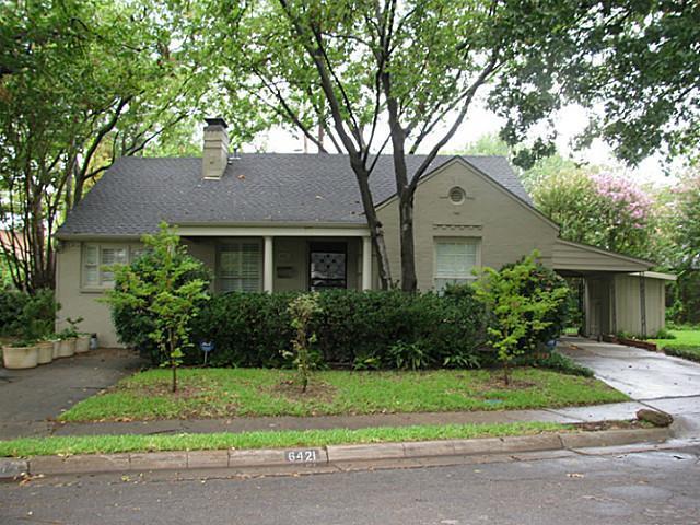 Sold Property | 6421 Goliad Avenue Dallas, Texas 75214 1