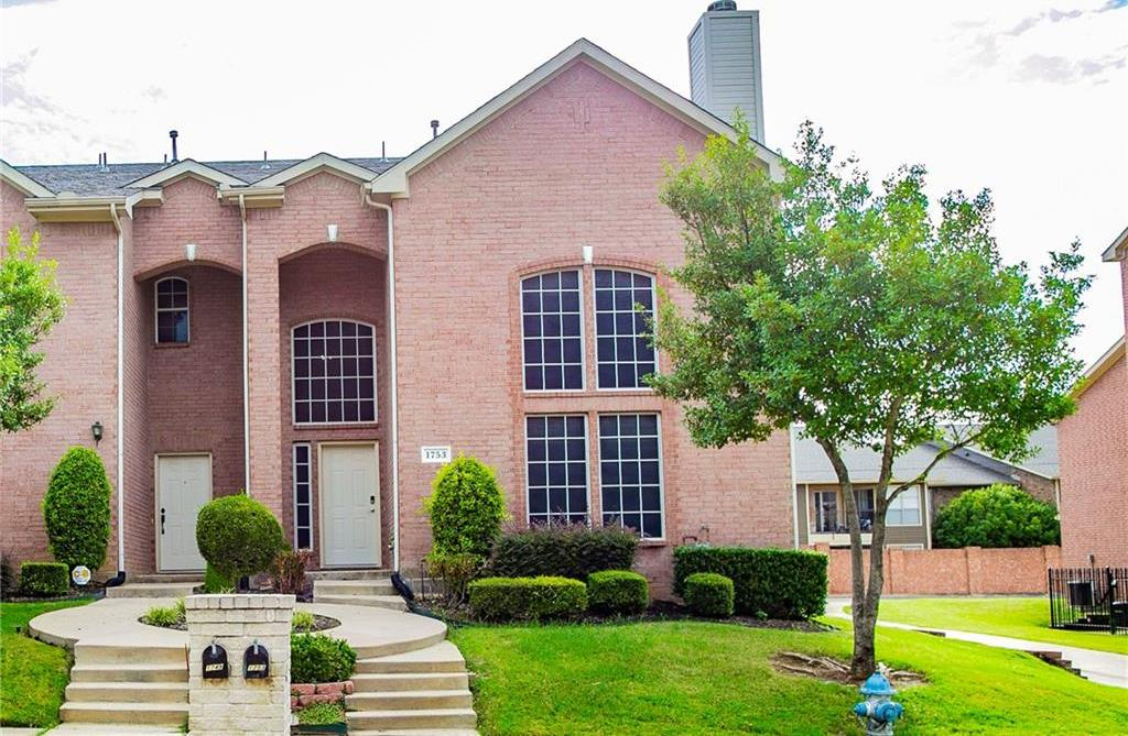 Town home for sale in Lewisville   1753 Massey Drive Lewisville, Texas 75067 2
