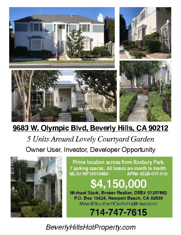 Active   9683 W Olympic Boulevard Beverly Hills, CA 90212 0