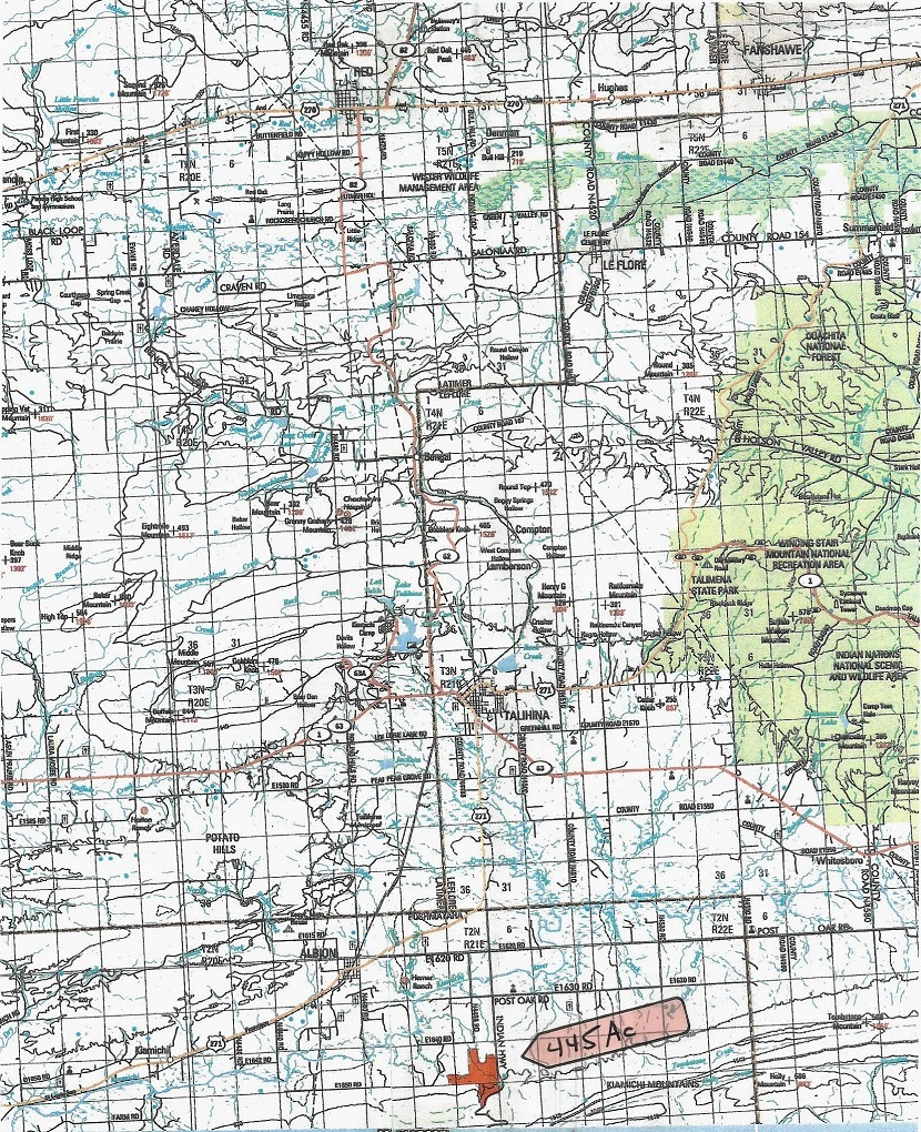 large hunting, hunting land, pond creek, trails, wooded property | Indian Hwy Albion, OK 74571 3