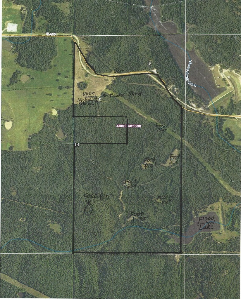 hunting lodge, hunt land deer food trails utilities pond game  | Oklahoma Hill Country Gerty, OK  2