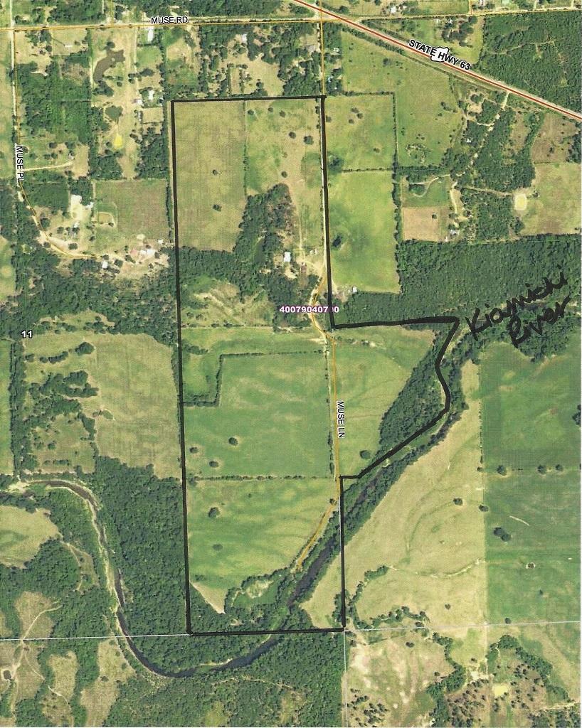 Kiamichi River land, mountain view land, land utilities w/river,   170 AC w/KIAMICHI RIVER AT SE CORNER Muse, OK 74949 1