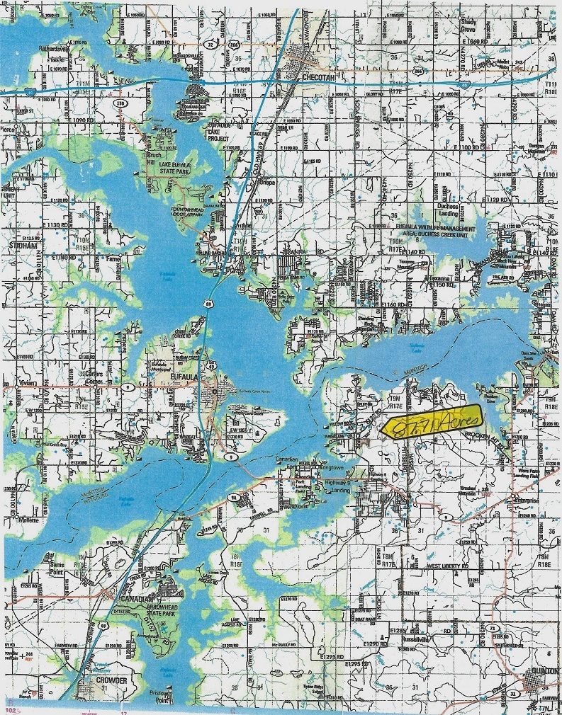 Sold Property | Waterfront Property With Eufaula Lake Access - 87.71 Frontage Acres Eufaula, OK 74432 3