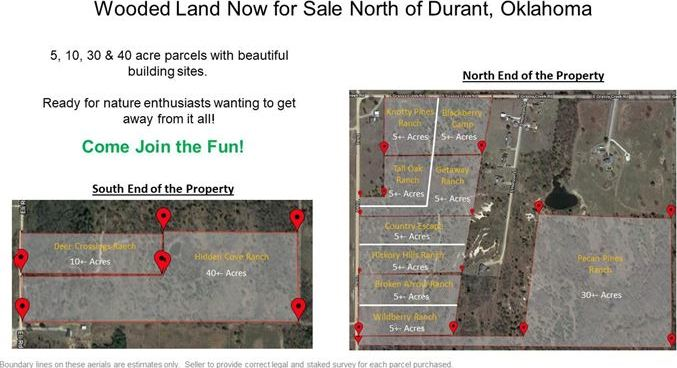 Wooded 33 Acre Ranch for Sale near Durant, OK | 9450 S Eli Road Coleman, OK 73432 12