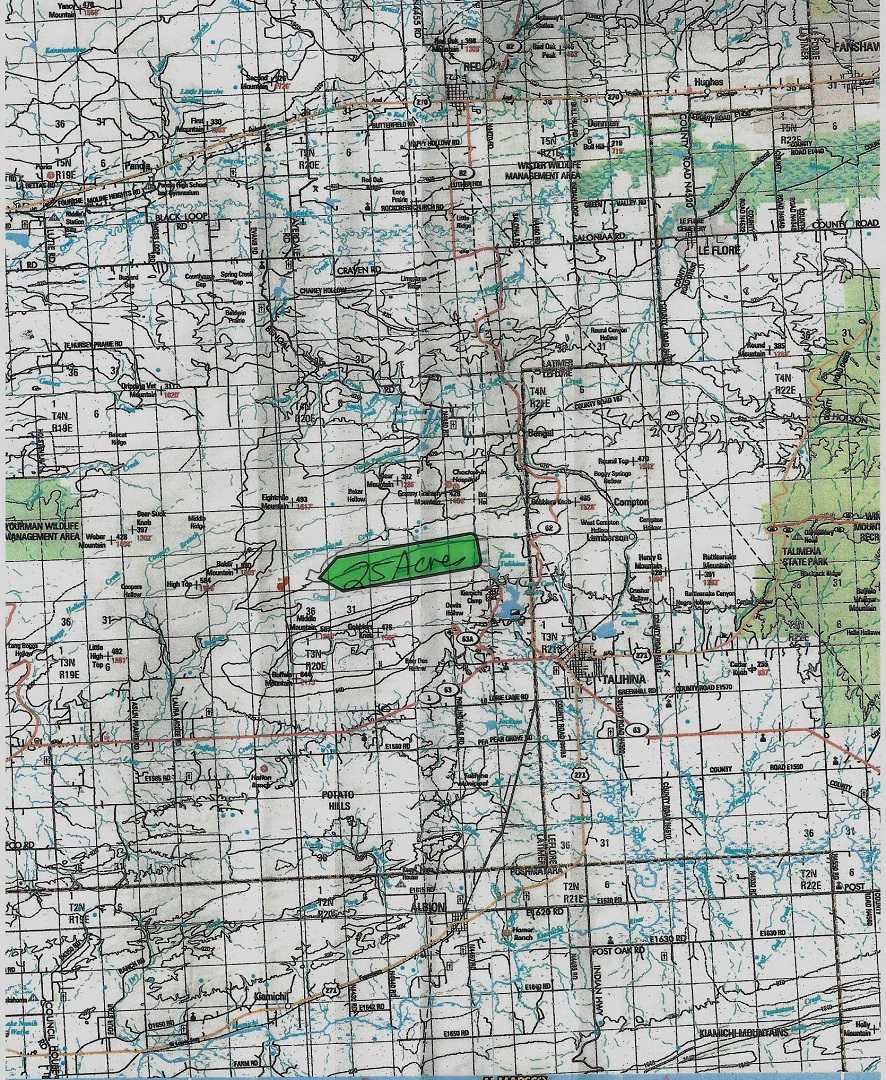 Oklahoma Hunting Land, OK mountain property, OK wilderness land | 25 WILDERNESS ACRES Buffalo Valley, OK  1