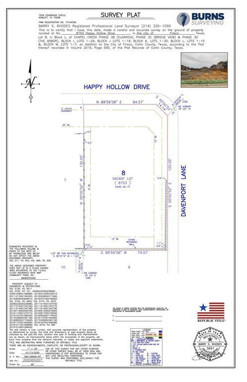 Active | 8753 Happy Hollow Drive Frisco, TX 75034 1