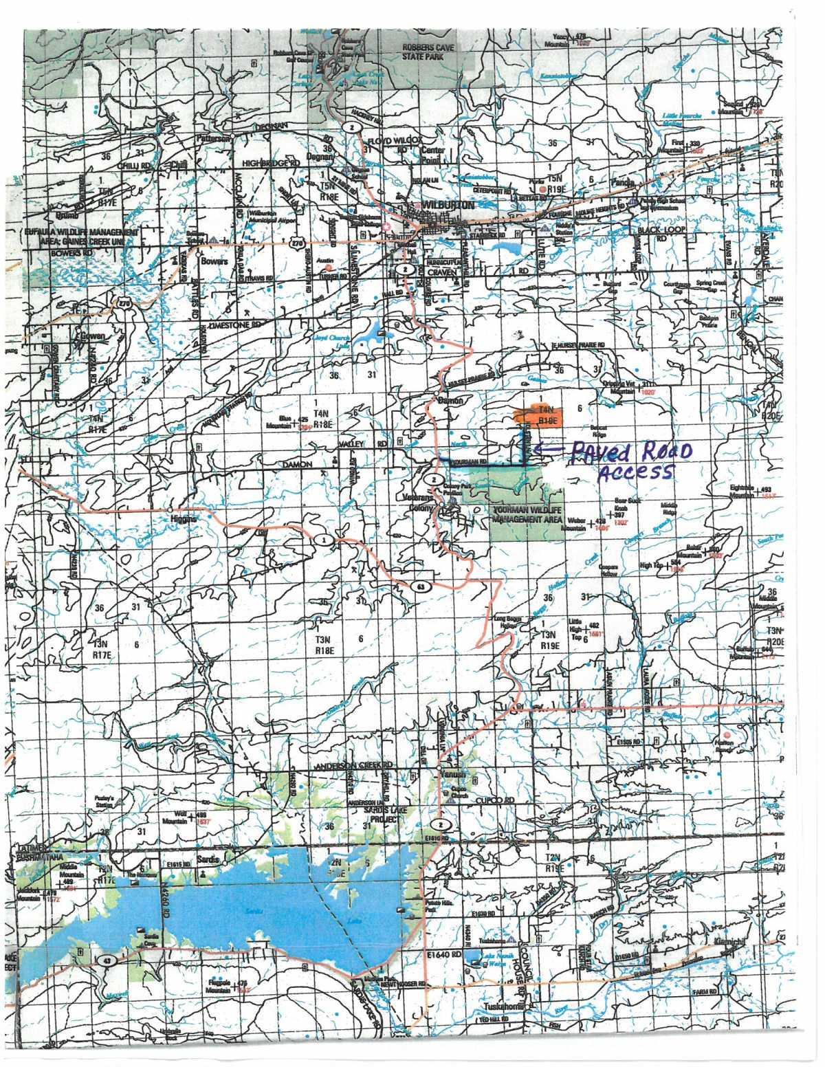 OKlahoma hunting land, Oklahoma Cabin, K hunting cabin ponds | Holsten Lane, 2022 Wilburton, OK 74578 1