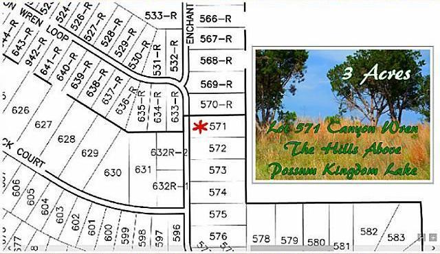 Sold Property | Lt 571 Canyon Wren Loop Possum Kingdom Lake, Texas 76449 0