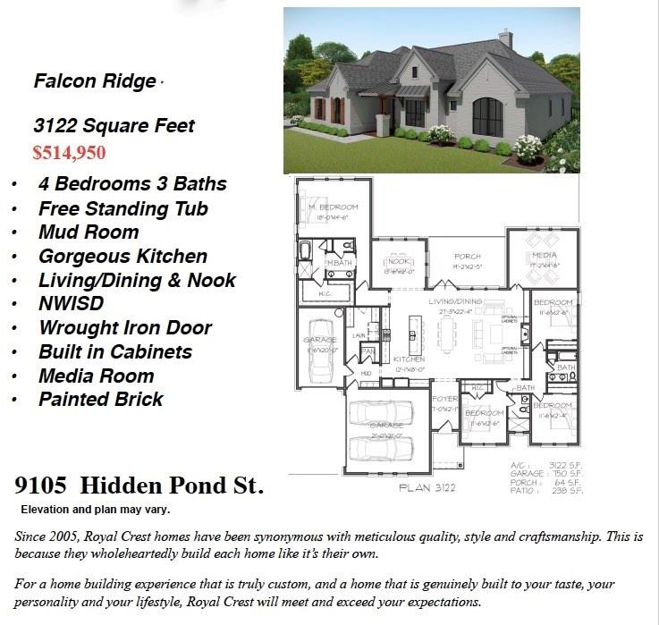 Active | 9105 Hidden Pond  Street New Fairview, TX 76247 0