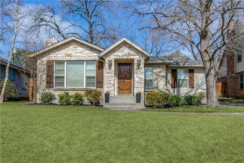 Sold Property | 6447 Vanderbilt Avenue Dallas, Texas 75214 0