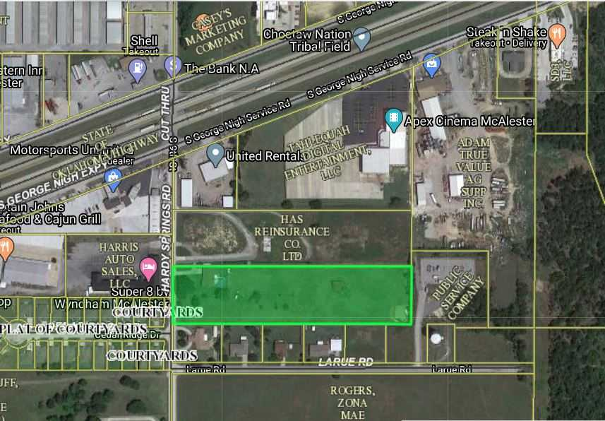 Commercial Land, Highway 69, McAlester, George Nigh | 2910 Hardy Springs Rd.  McAlester, OK 74501 0